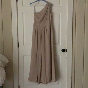 David's Bridal taupe gown size 10